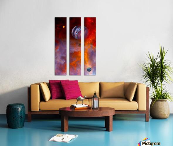 Trial By Fire Split Canvas print