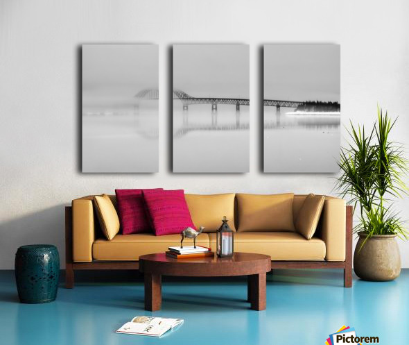 Seal Island Bridge in fog Split Canvas print
