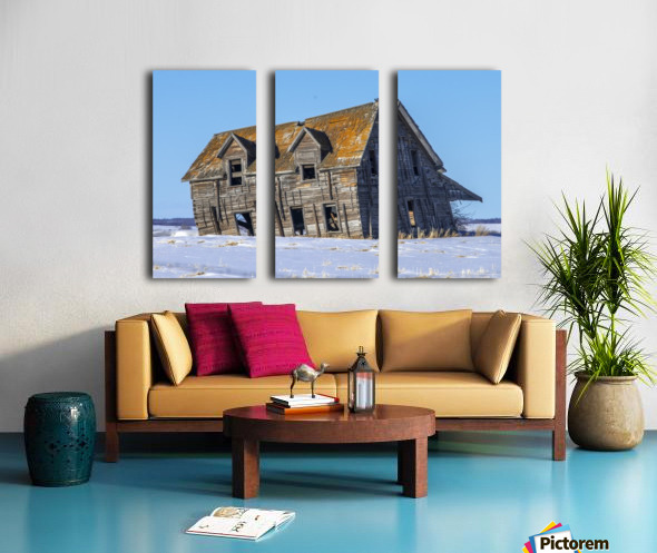 Abandoned Farm House Alberta Canada Split Canvas print