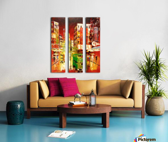 Wanchai Night Split Canvas print