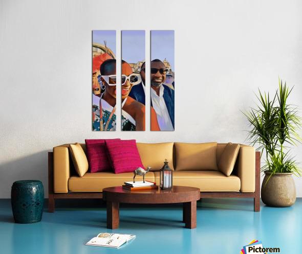 Daddys girl Split Canvas print