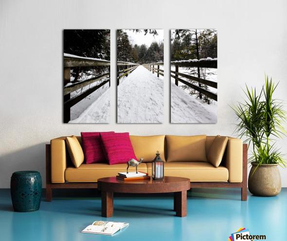 The Boardwalk Split Canvas print