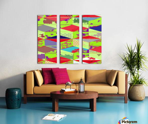 patchwork cubes by dePace Split Canvas print