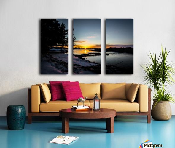 The Nith - Pre Sunset Split Canvas print