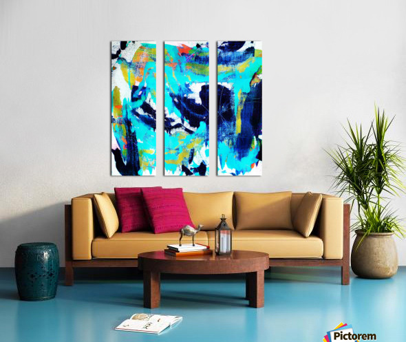 Abstract Ikat Toile Multi-Panneaux