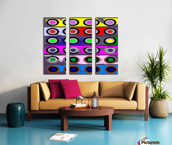 Circle Crazy by dePace Split Canvas print