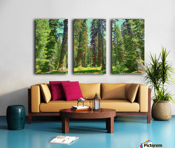 Cabin in the Woods Split Canvas print