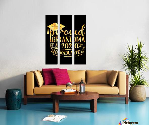 Proud Grandma of A 2020 Graduate Split Canvas print