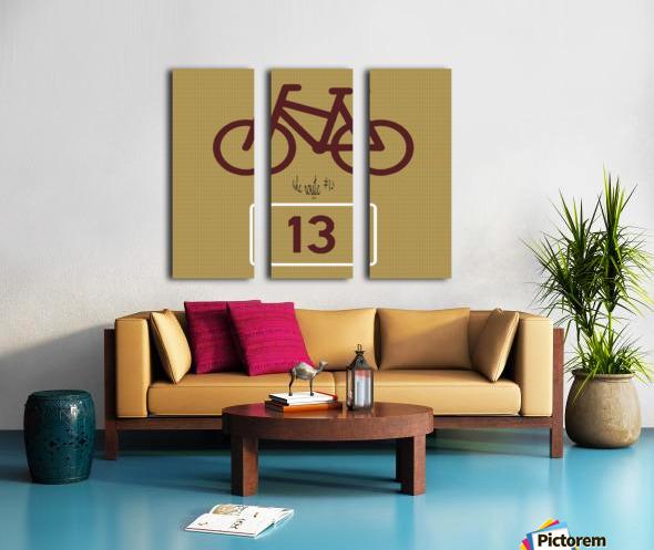 Bike Route number 13 Split Canvas print