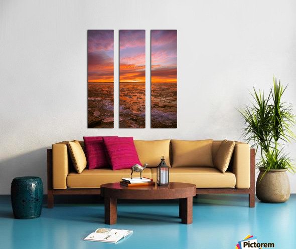 Fire and ICe Split Canvas print
