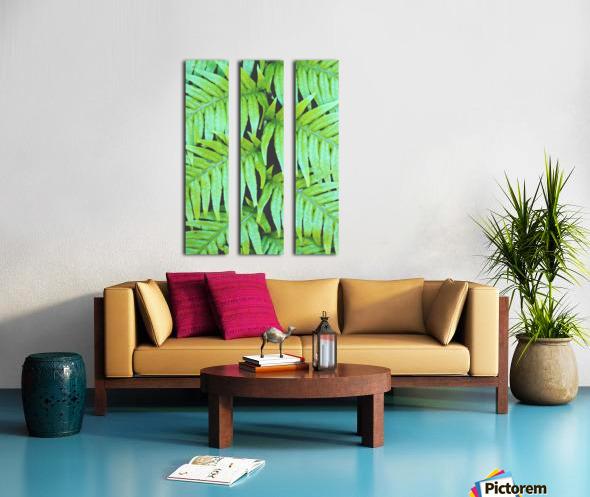 Fern Leaves Split Canvas print