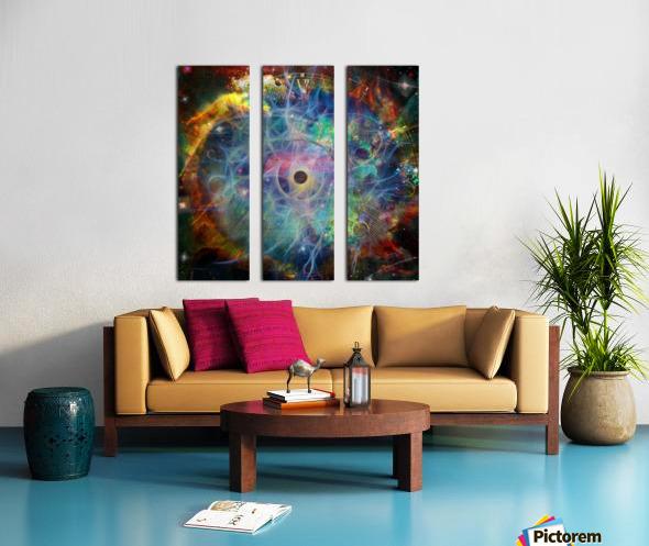 The Eye of Time Split Canvas print