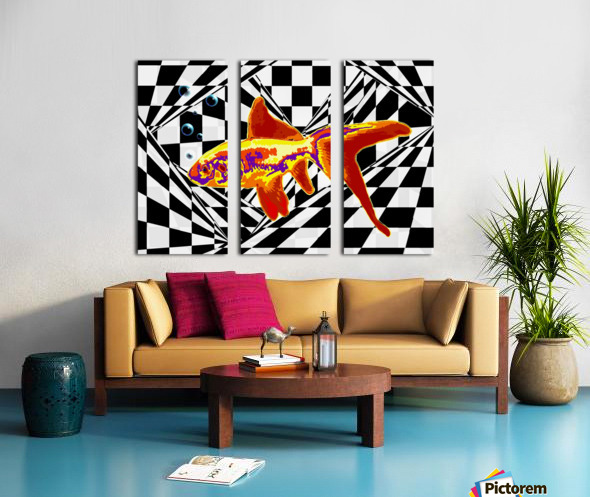 The Fish Split Canvas print