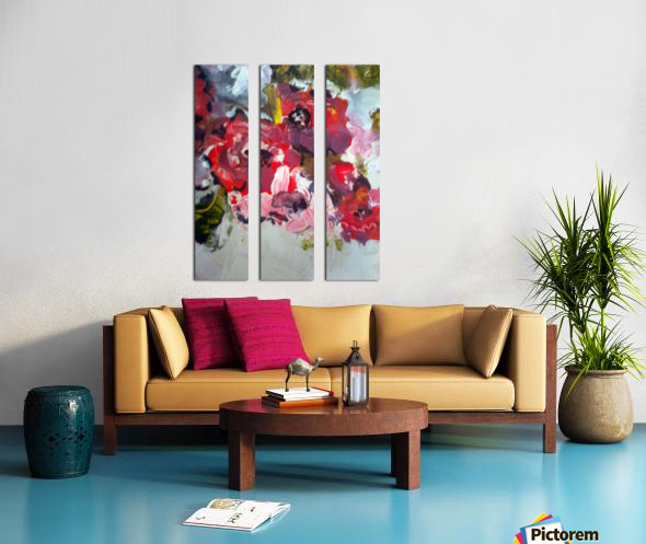 Primary Red1  Split Canvas print