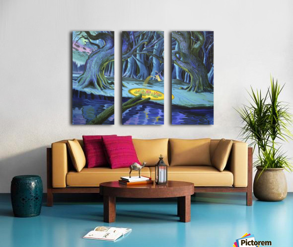 Mystic Flower Garden Split Canvas print