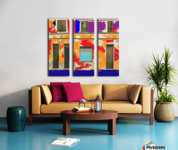 wall of doors Split Canvas print