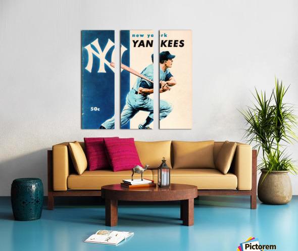 1956 New York Yankees Yearbook Wall Art Split Canvas print