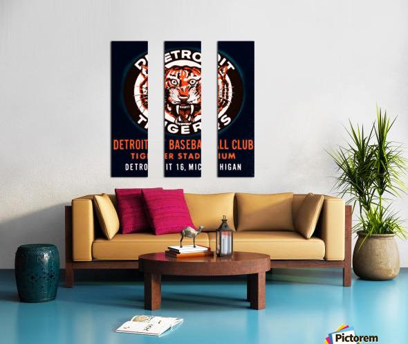 1963 Detroit Tigers Art  Split Canvas print