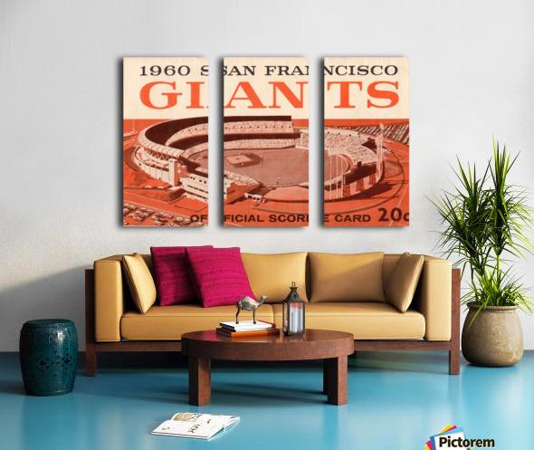 1960 San Francisco Giants Split Canvas print