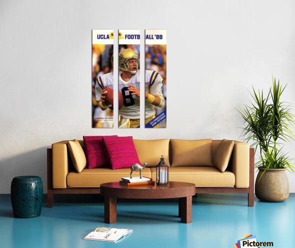 1988 Troy Aikman UCLA Football Poster Split Canvas print