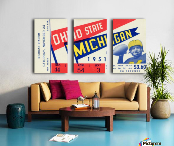 1951 Ohio State vs. Michigan Split Canvas print