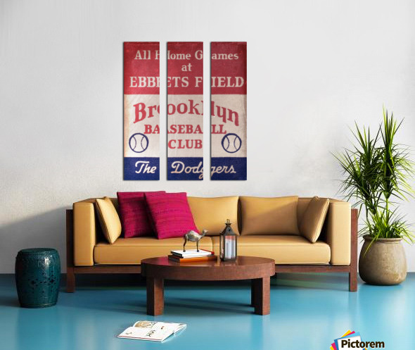 1939 Brooklyn Dodgers Split Canvas print