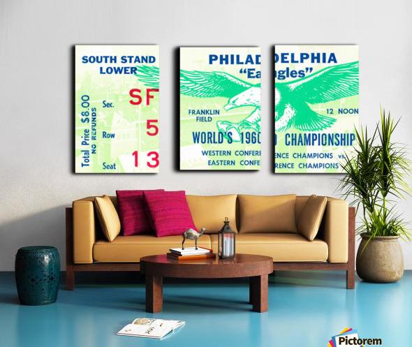 1960 Philadelphia Eagles Football Ticket Split Canvas print