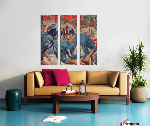 1963_National Football League_Washington Redskins vs. New York Giants_Yankee Stadium_Program_Row One (1) Split Canvas print