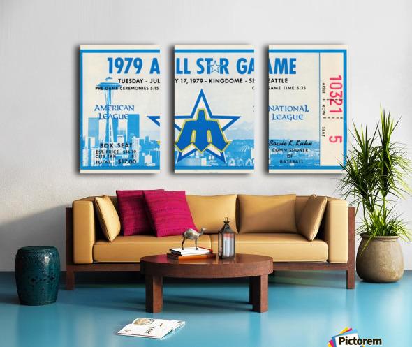 1979 Major League All-Star Game Seattle Split Canvas print