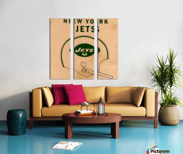 1971 New York Jets Vintage Helmet Art Split Canvas print