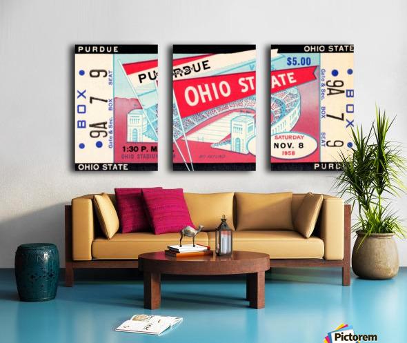 1958_College_Football_Purdue vs. Ohio State_Ohio Stadium_Row One Brand Split Canvas print