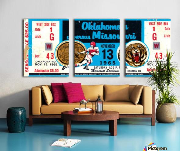 1965_College_Football_Oklahoma vs. Missouri_Memorial Stadium_Columbia_Row One Split Canvas print