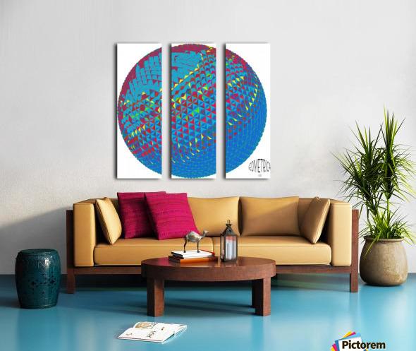 geometrical Split Canvas print