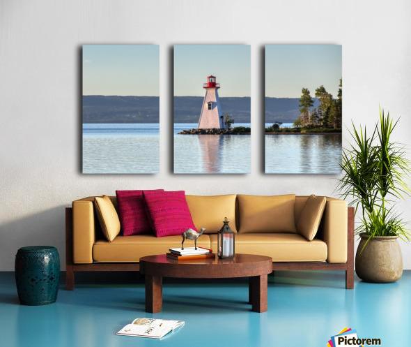 Baddeck Lighthouse Split Canvas print