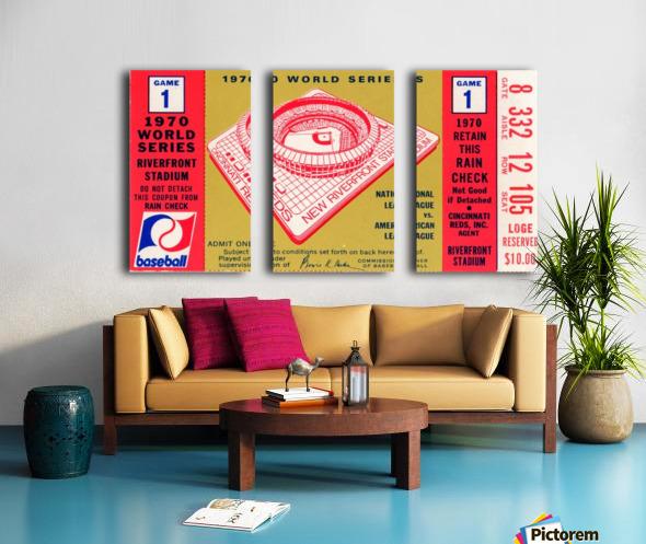 1970_Major League Baseball_World Series_Cincinnati Reds vs. Baltimore Orioles_Riverfront Stadium Split Canvas print