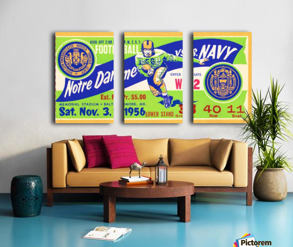 1956_College_Football_Notre Dame vs. Navy_Memorial Stadium_Baltimore_Row One Brand Split Canvas print