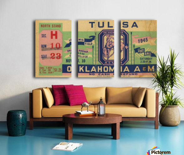 1945 Oklahoma A&M vs. Tulsa Split Canvas print