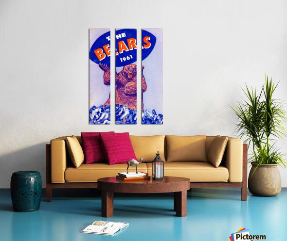 1961_National Football League_Chicago Bears_Row One Brand Split Canvas print