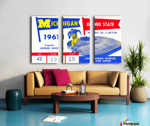 1961_College_Football_Ohio State vs. Michigan_Michigan Stadium_Ann Arbor_Row One Brand Split Canvas print