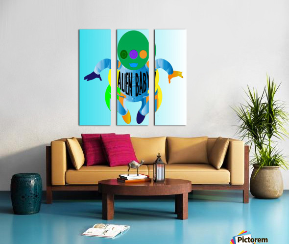 Alien Baby Split Canvas print
