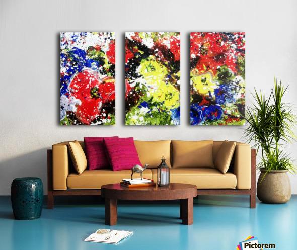 Primary Blossom Split Canvas print