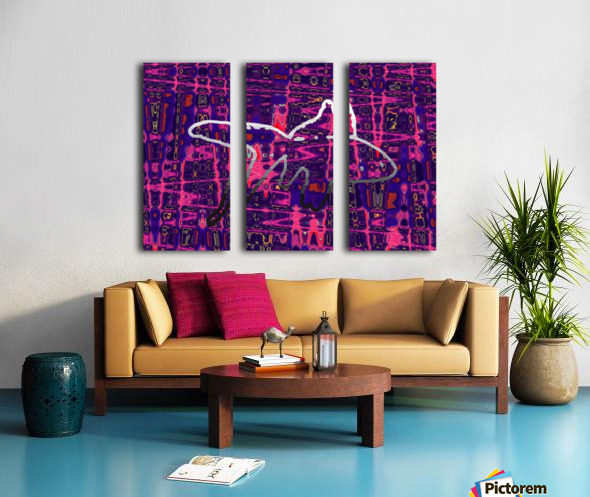 Abstract Fish Split Canvas print