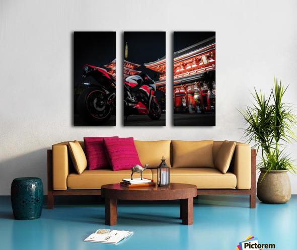 Honda At The Temple Split Canvas print