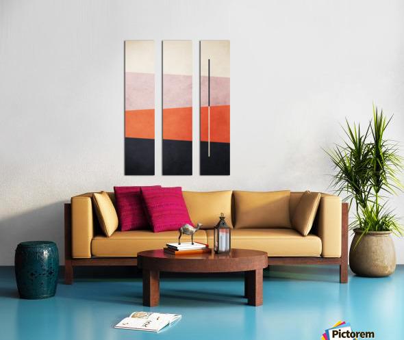 Shapes 06 - Abstract Geometric Art Print Split Canvas print