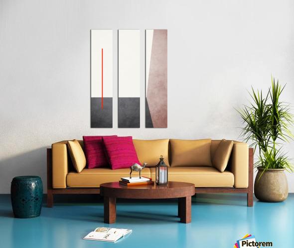 Shapes 04 - Abstract Geometric Art Print Split Canvas print