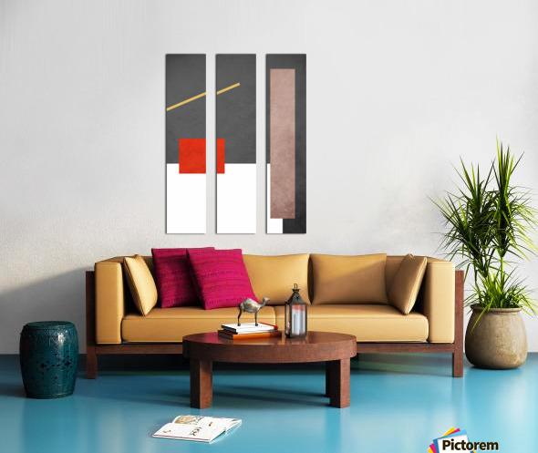 Shapes 03 - Abstract Geometric Art Print Split Canvas print