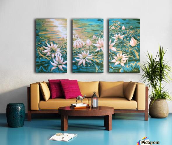 Pink lotus Split Canvas print