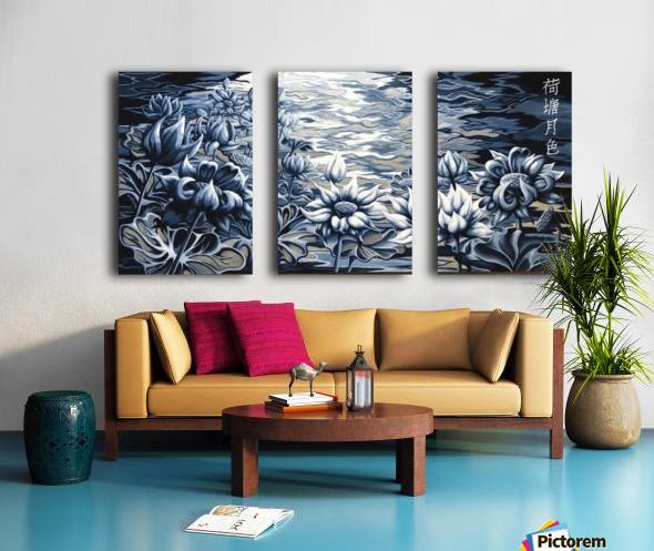 Silver night Split Canvas print