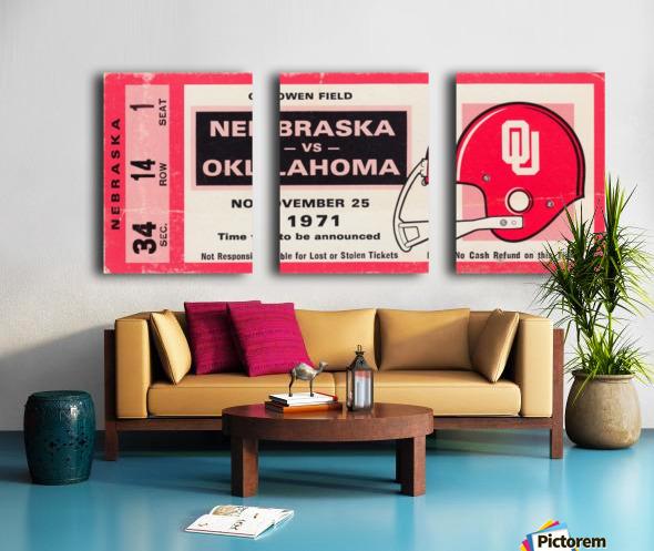 1971 Game of the Century Nebraska vs. Oklahoma Split Canvas print