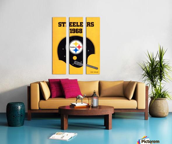 1968_National Football League_Pittsburgh Steelers_Media Guide_Row One Brand Vintage Media Guide Art Split Canvas print